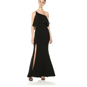Dress the Population One-Shoulder Flounce Gown